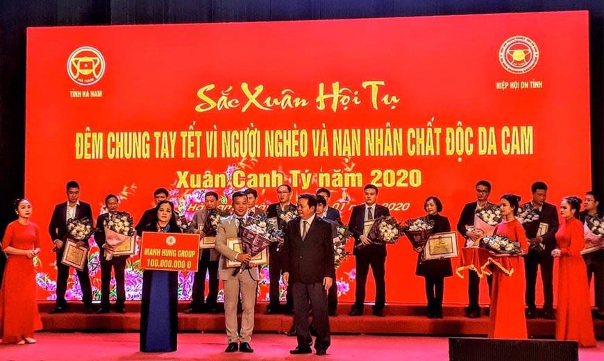 Manh Hung Group chung tay Tết vì người nghèo Xuân Canh Tý.