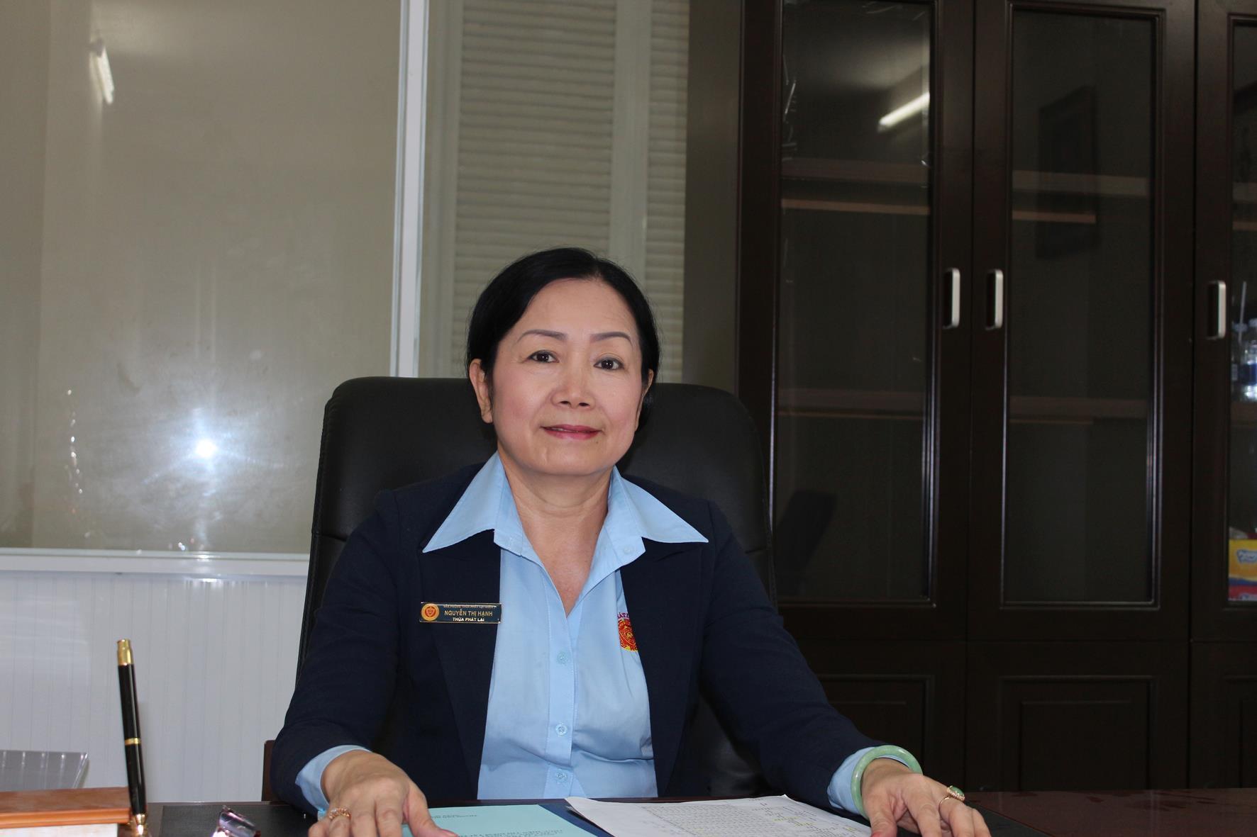 Trưởng Văn phòng Thừa phát lại Quận 1: Bà Nguyễn Thị Hạnh