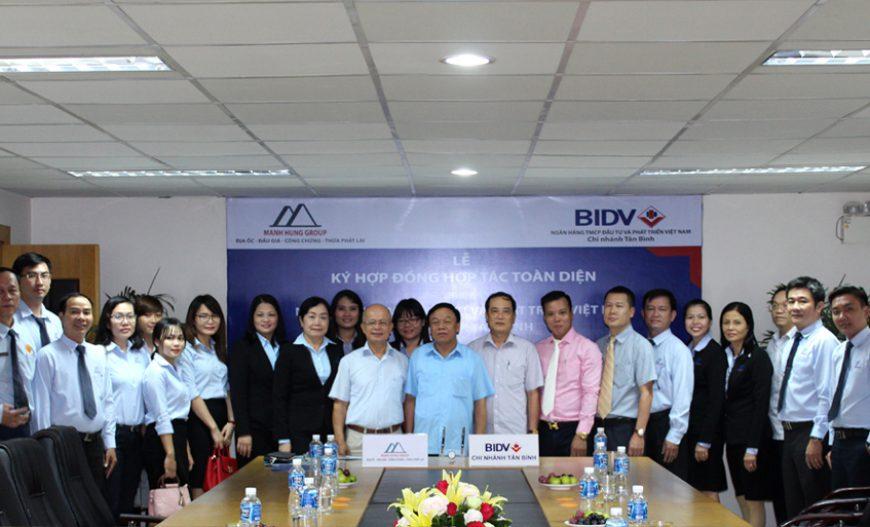 Manh Hung Group ký hợp tác toàn diện với BIDV Chi nhánh Tân Bình