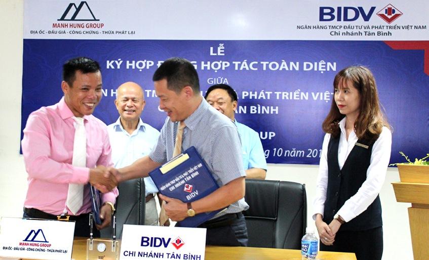 Lễ ký hợp đồng giữa BIDV Chi nhánh Tân Bình và Manh Hung Group