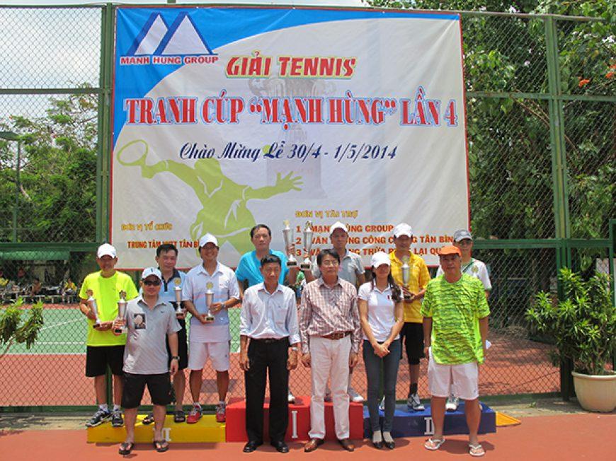 """Kết quả chung cuộc giải tennis tranh """"CÚP MẠNH HÙNG LẦN 4"""""""