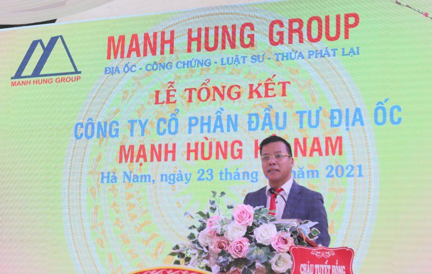 Manh Hung Group tổng kết năm 2020 và trao quà tết cho gia đình chính sách